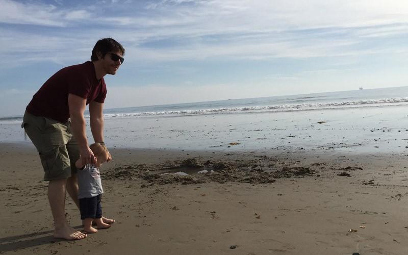 Kalifornien mit Kindern am Strand