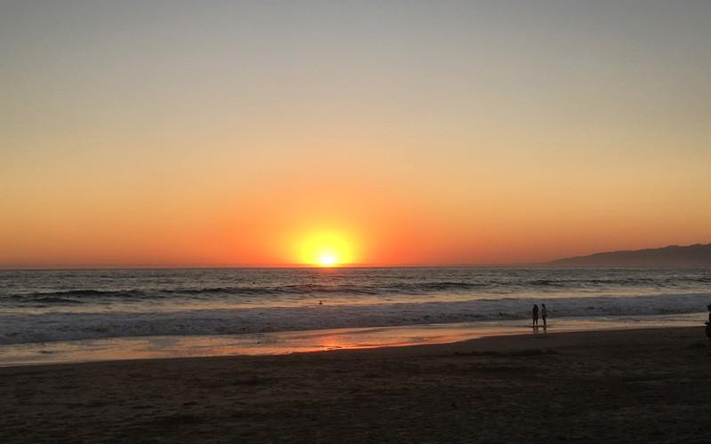 Sonnenuntergang Santa Monica beach