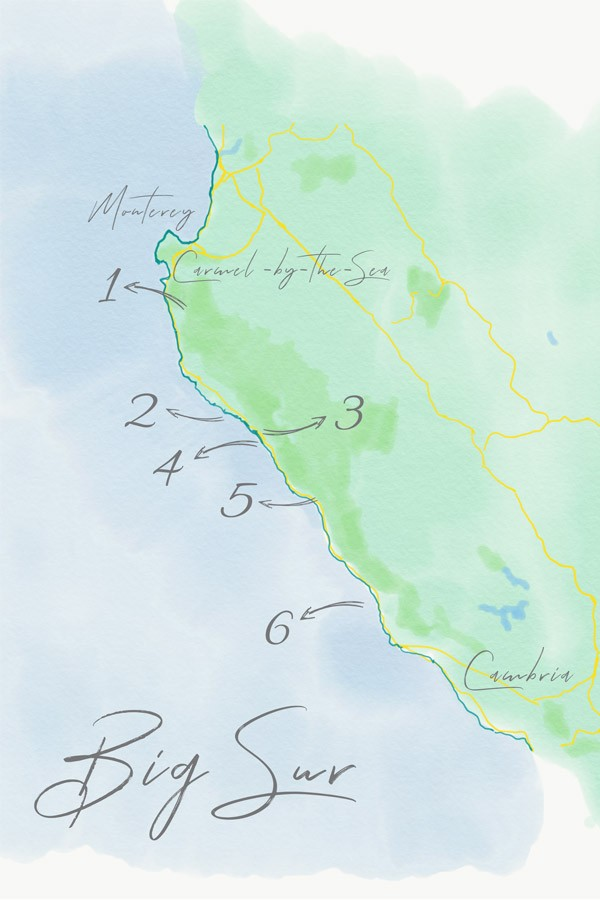 Folgende Orte solltest du bei deiner Big Sur Reise unbedingt besucht haben.