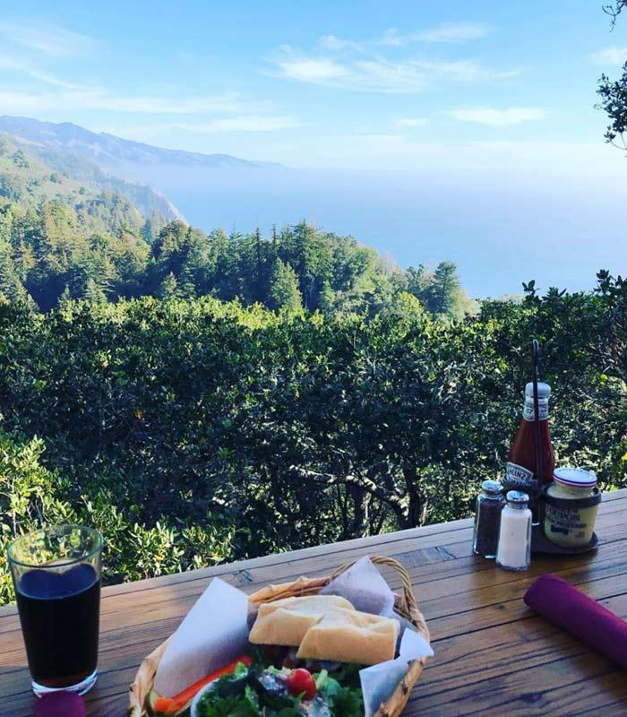 Ausblick Küste Nepenthe Restaurant