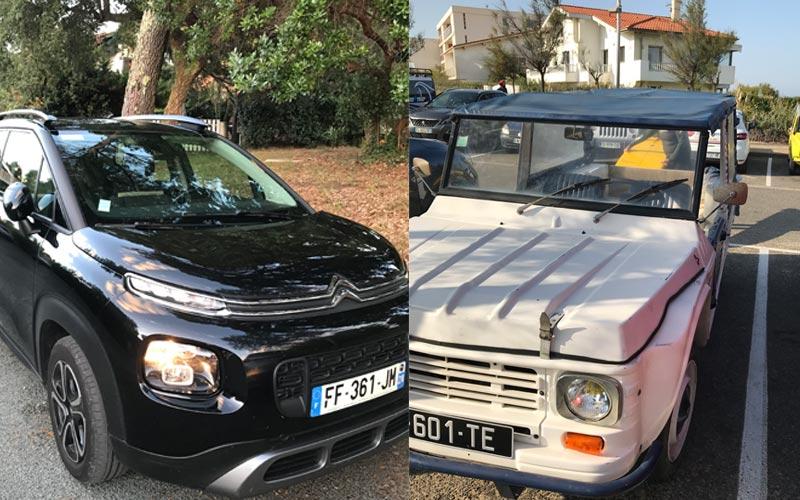 Citroen Mietauto und Strandbuggy Frankreich gefunden in Hossegor