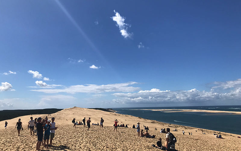 Endloser Blick auf der Dune du Pilat
